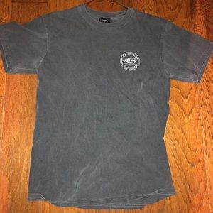 Stussy Charcoal Graphic Tee